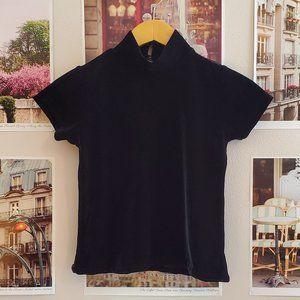 Vintage 90s Black Velvet Top